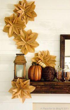 Brown Paper Flowers #aplaceforusblog your-best-diy-projects