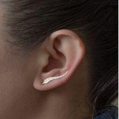 Vintage Bijoux Exquis Plaqué Or Boucles D'oreilles Feuille Moderne Belle Plume Boucles D'oreilles pour les Femmes