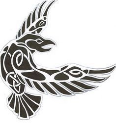 clipart nordic -Raven clipart nordic - tatoo design for :Cama-Kun Pegatina Huginn y Muninn awesome Tattoo Trends - Raven tattoo Tatto Viking, Viking Raven, Norse Tattoo, Viking Art, Celtic Tattoos, Viking Tattoos, Celtic Raven Tattoo, Wiccan Tattoos, Inca Tattoo