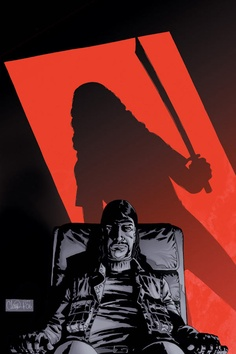 The Walking Dead #33 Michonne coming to kill the governor.