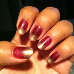Gradient gelish nails