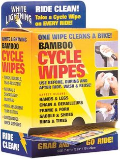 Bike Cleaners - White Lightning Bamboo Cycle Cycle Wipes Individually Wrapped 36pack POP *** You can get additional details at the image link.