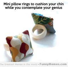 Funny memes mini pillow rings Funny memes   [Mini pillow rings]
