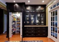Modern butlers pantry kitchen traditional with white wood recessed lighting