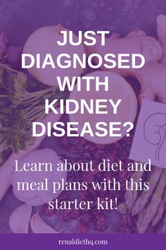 Interested in renal diet meal plans + learning what to eat on the kidney diet? If you were recently diagnosed with kidney disease / CKD then you might feel overwhelmed with having to follow a chronic kidney disease diet. But this affordable starter kit is full of renal diet tips + renal diet recipes + renal diet meal plans + renal diet shopping list to help you get started! Grab it here! | Kidney Disease Diet Products #RenalDiet #KidneyDiseaseDiet #KidneyDiet #ChronicKidneyDisease #KidneyDisease