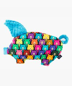 Look at this #zulilyfind! Turquoise Jelly Bears Sleepy Pig Pillow by La Millou #zulilyfinds
