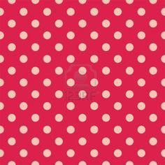 Modello retrò con pois su sfondo rosso -, motivo, senza soluzione di continuità per gli sfondi, blog, i...