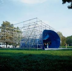A public space and structure of the future Museum of the history of Polish Jews in Warsaw. http://centrala.net.pl/our-work/ohel