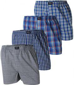 Bequeme Web Boxershorts von MG-1 aus 100% Baumwolle. Die Shorts sind weit und locker geschnitten. Der sehr elastische, weiche Bund, verursacht wenig Druck und sorgt für angenehmes Tragegefühl.  Das Set beeinhaltet 4 verschiedene Boxershorts, für weitere Infos: www.boxxers.de/MG-1-4er-Set-Boxershorts-Check-032