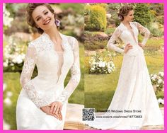 2016 western country style wedding dresses lace long sleeves bridal gowns romantic robe de mariage full length w3409