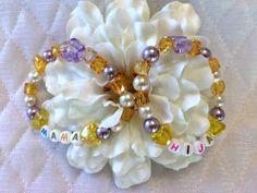 Brasaletes para madre e hija.   Bracelets for mother and daughter. Conjunto de brasaletes para la mama y la hija de Brisasboutique en Etsy