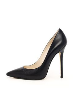 9 Pairs Of Killer Black Pumps That Are Anything But Boring #refinery29  http://www.refinery29.com/42332#slide-1  KORS Michael Kors Aberly Leather Pump, $250, available at Michael Kors.