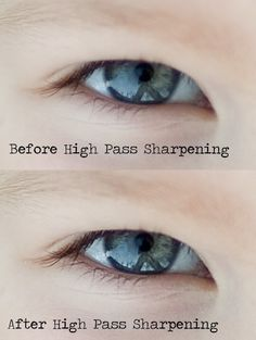 Sharpening Using the High Pass Filter