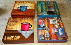 Caja para cápsulas de café