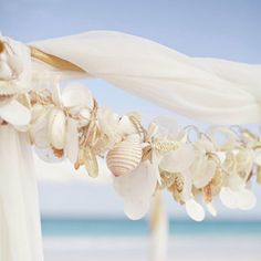 Sea Shell Garland by GirlMeetsBoy on Etsy, $215.00