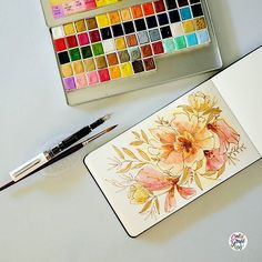 It's finally Friday!!!! I have a logo project that needs to be in 80's and still thinking for any inspiration. Anyway… here's another pen & ink florals for you guys! #dreweuropeo #calligrafikas #grafikas #mixedmedia #inks #metallics...