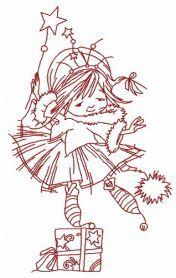I'm Christmas fairy 3 embroidery design