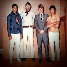 Mike Stone, James, Chuck Norris & Bruce Lee
