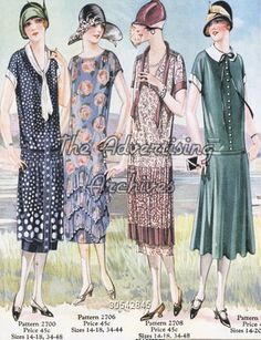 Catalogue/ Brochure Plate 1920s Ladies Fashion