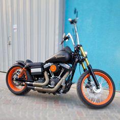 Omran's Harley Davidson Street Bob with Weeli Seat, Nitro Shocks & Voodoo Fender | Rocket Bobs