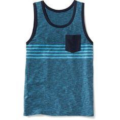 3e22bde6c3629 Old Navy Slub Knit Pocket Tank For Men ( 10) ❤ liked on Polyvore featuring