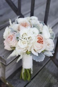 Romantic Shabby Chic #Wedding Bouquet |Twisted Willow Flowers | see more: http://www.weddingwire.com/wedding-photos/i/romantic-rustic-hip-informal-white-boho-chic-gray-pink-summer-vineyard-spring-garden-modern-space-vintage-style-barn-bouquets-rose-ranunculus/i/2a6db197362984bf-939c9c0d3c7690b3/f450a5fe945138d1?tags=rustic&page=11&cat=flowers&type=search