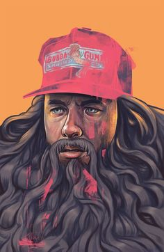 T-shirt Bubba Forrest Gump Arts Run Tom Hanks – inspired clothes based in popular games, anime, comics books. Buy awesome tees, tops, tanks and raglans online. Art And Illustration, Illustrations, Portrait Illustration, Digital Painting Portrait, Painting Portraits, Tom Hanks Forrest Gump, Forrest Gump Beard, 7 Arts, Cultura Pop