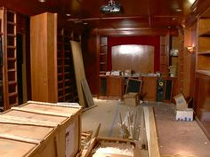 How to Build a Home Theater Home Cinema Room, At Home Movie Theater, Home Theater Rooms, Home Theater Design, Basement Bar Designs, Home Bar Designs, Home Design, Basement Ideas, Basement Bars