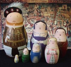 Henry VIII and his six wives ! @Laura Breedlove, mimi would have loved this!!