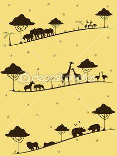 Safari animals cartoon Stock Photos, Royalty Free Safari animals cartoon Images | Depositphotos®