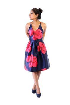Vestido Flores cereza