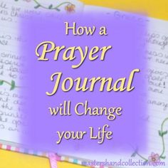 Want to improve your prayer life? I'll share with you the three ways a prayer journal has changed my life and how it will do the same for you! Bible Verses About Prayer, Bible Verses For Hard Times, Bible Prayers, Prayer Quotes, Bible 2, Bible Quotes, God Answers Prayers, Answered Prayers, Prayers For Strength