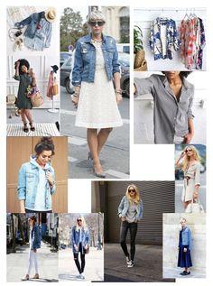 38971c543e Wear a denim jacket with a white lace dress