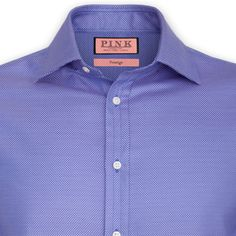 Saladin Texture Shirt - Double Cuff by Thomas Pink