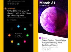 Imagem do aplicativo de notícias do Yahoo, o News DIgest