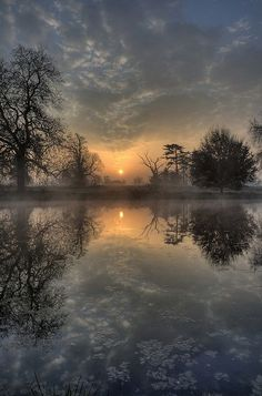 Winter Sunset and Reflection  | nature | | reflections |  #nature  https://biopop.com/