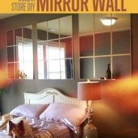 Create a strikingly large, mirrored-wall effect on a Dollar Store budget.  Using only a few easy supplies, zero power tools, and an afternoon of work, you can make these mirror panels to enlarge any room in your house.  They will increase the light in your room and make the space feel more expansive