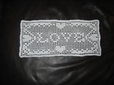 """Ravelry: Hearts Border With Love. Doily.  Free Chart Filet Crochet pattern by Sandi Marshall.  Approx. sizes are 9"""" to 13"""" length."""