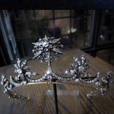 Star of Jerusalem diamond and Pearl Tiara.