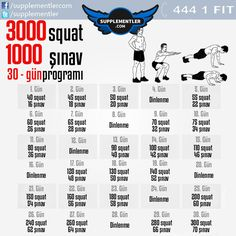Squat ve şınav konusunda hem güçlenecek hemde yüksek sayılara ulaşacaksınız! 30 günlük hedefte 3000 squat ve 1000 şınav' a ne dersiniz? #squat #workout #fitness #protein #fitness #health #supplement #fitness #bodybuilding #body #muscle #kas #vücutgelistirme #training #weightlifting #spor #antrenman #crossfit #spor #workout #workouts #workoutflow #workouttime #fitness #fitnessaddict