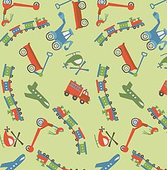 fabric - Scoot Toss on Green by Riley Blake Designs How do you get around? By plane, train, helicopter, wagon, or scooter? Whatever way you scoot, you will surely love this fabric! Part of the