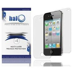 Halo Screen Protector Film Clear (Invisible) for iPhone 4G 4 (3 Pack + 3 Bonus Back Films) $5.95