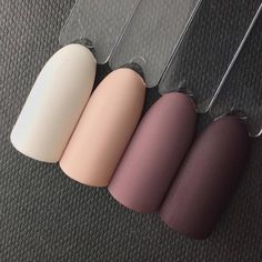Natural and neutral from Akzentz Luxio. 🍂😍 Click the pic for product links. From lightest to darkest colors are Ivory, Forever, Charmed,… Aycrlic Nails, Fun Nails, Pretty Nails, Hair And Nails, Coffin Nails, Acrylic Nails Natural, Cute Acrylic Nails, Natural Manicure, Matte Nail Art
