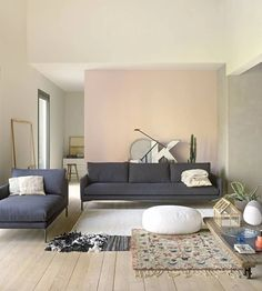 Wall Colors In Pastel 22 Gorgeous Facility Examples Living Room Interior, Home Living Room, Living Room Designs, Living Spaces, Lounge Design, Living Room Inspiration, Interior Inspiration, Wall Colors, House Colors