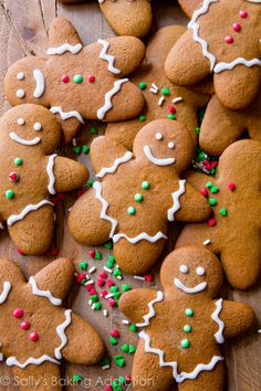 Here is my favorite gingerbread men recipe! Soft in the centers, crisp on the edges, perfectly spiced, molasses and brown sugar-sweetened holiday goodness!