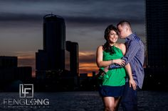 Engagement session at Lake Eola Park, Downtown Orlando