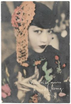 RARE ANNA MAY Wong Hand-Tinted Fan Card 1930 Vintage Photograph Signed in Plate - $46.55 | PicClick Old Hollywood Stars, Old Hollywood Glamour, Hollywood Fashion, Rare Photos, Vintage Photographs, Vintage Photos, Old Postcards, Photo Postcards, Anna May