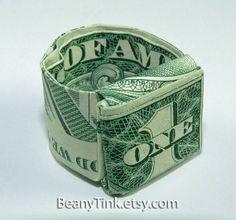 Dollar Origami - Classic Ring via Etsy