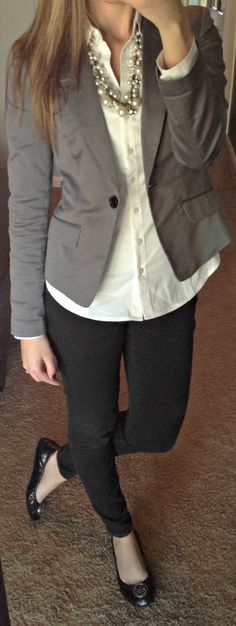 Necklace: Kohls Shirt: Express Blazer: Forever 21 Pants: Express Shoes: Michael Kors