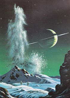 New Ideas For Fantasy Landscape Painting Sci Fi Science Fiction Art, Landscape Paintings, Sci Fi Art, Retro Art, Fantasy Landscape, Sci Fi Fantasy, Art, Alien Worlds, Space Art